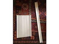 White kitchen mesh blinds
