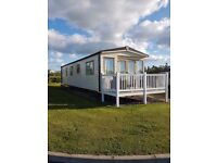 Static 2013 Abi St David, 3 bedroom, double glazing, central heating, 38ft x 12ft, at Seton Sands