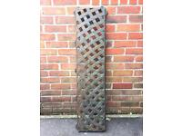 Cast iron used garden back of bench/ wall climber