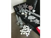 CHRISTMAS Decoration silver bundle