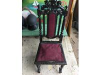beautiful antique indonesian carved oak chair