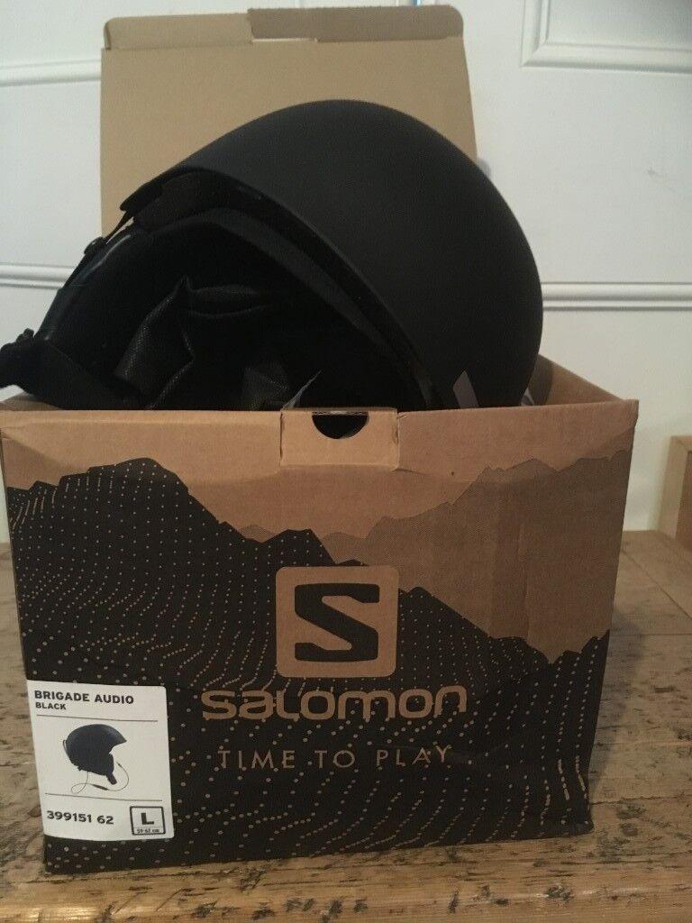 pas cher pour réduction 4bffd 9ed14 Salomon Brigade ski/snowboard black audio helmet (size large) | in Brixton,  London | Gumtree