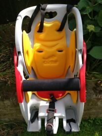 CoPilot child's seat with Blackburn rack and all fittings, almost unused
