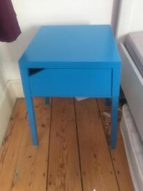 Metal blue modern bed side cabinets tables