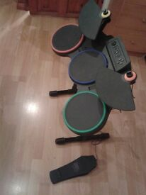 Drum Set Kit Controller - Sony Playstation 3 PS3 Guitar Hero World Tour