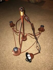 Eglo Rustic Brown and Copper Light Fitting