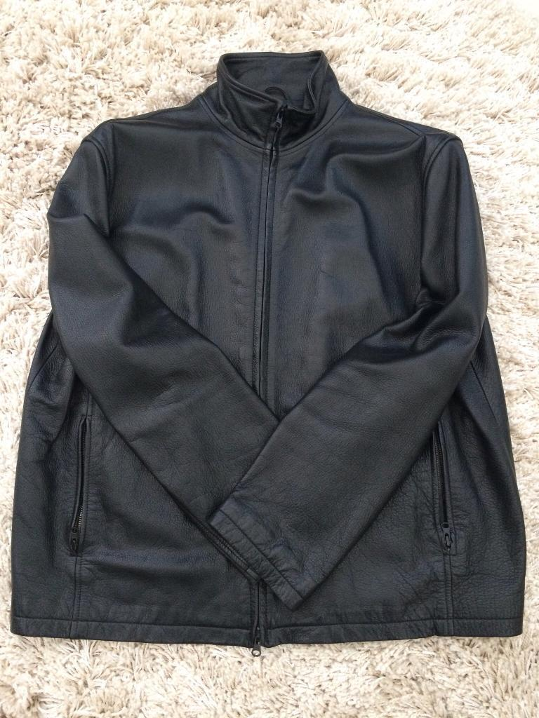 MENS GENUINE DKNY LEATHER JACKET