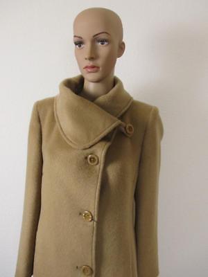 Anton+Moda edler, einreihiger Mantel, beige/braun,Größe 46