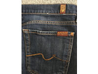 7 for all mankind jeans 32w excellent condition