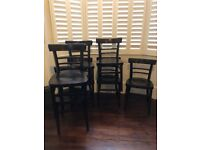 Set of 7 classic wooden chairs