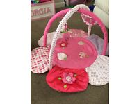 Baby girl play gym and bath seat. Perfect condition