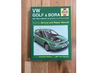Haynes Manual VW Golf & Bora 1998 to 2000