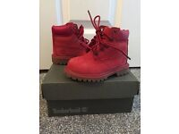 Infant Red Timberland boots, size 4