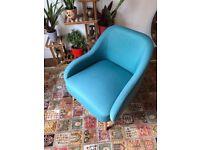 Momo Teal Blue Fabric Armchair from Habitat