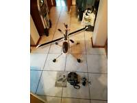 raptor v2 helicopter with controller with extras carbon fiber blades