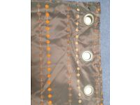 pair of luxurious fully lined ring top curtains