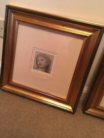 Set of two framed prints antique style