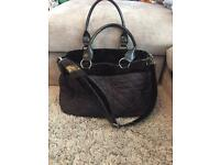 Black quilted Mothercare changing bag