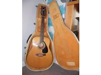 Original Acoustic Yamaha FG 410 12A guitar with Hiscox hard case