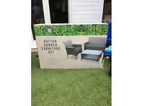 Rattan 4 piece garden furniture £100 brand new