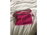 Hot pink Kipling handbag