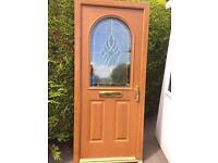 Brand new oak composite door