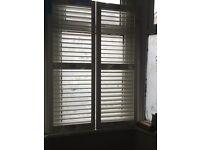Brand new San Jose' white shutters 157cm high x 108 cm wide
