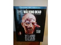 THE WALKING DEAD VERY RARE SEASON 2 LIMITED EDITION ZOMBIE HEAD BLU RAY SET - BRAND NEW SEALED.