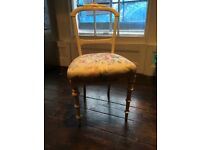 Gorgeous shabby chic-style up-cycled, re-upholstered chair for your bedroom, study or reading corner