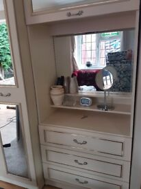 Beautiful four door wardrobe with dressing area and drawers