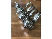 Silver plated cat napkin holders
