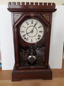 Wooden case wallclock with chimes