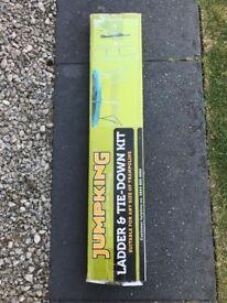 'JUMP KING' trampoline ladder and tie down kit - unused