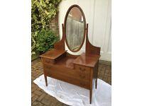vintage inlaid wood dressing table
