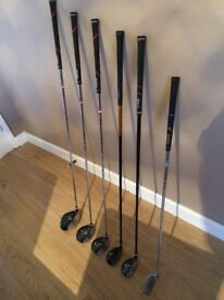 DUNLOP STARTER GOLF WOOD and HYBRID SET - Driver - 3 Wood - 5 wood - Hybrid 24 and 20 deg -