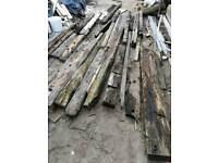 Various reclaimed timber beams. Job lot.