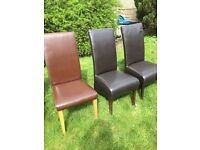 Chairs. Leather .asorted styles