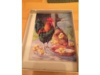 Vintage chickens jigsaw