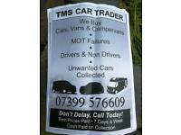 Cars vans four wheel drives wanted