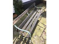 Railway platform station garden benches