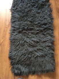 Flokati rug in Denim blue