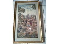 BEAUTIFUL ITALIAN FRAMED TAPESTRY FOR SALE £15