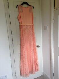 Coast peach maxi dresses
