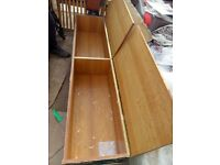 wood storage chest large trunk