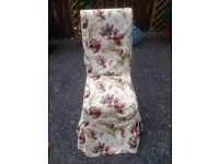 Shabby Chic Upholstered dining chair with Laura Ashley Fabric