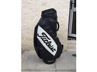Titleist leather tour bag