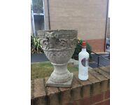 Stone concrete garden urn planter pot
