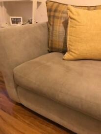 Dansk three seater grey sofa
