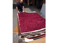 Large designer rug in fuchsia 140x200