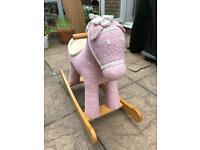 Pink blossom rocking horse